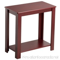 Yaheetech 2 Tier Chair Side End Table with Lower Storage Shelf for Small Spaces Wine Red - B01N55MNKF