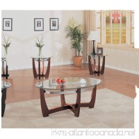 ACME Baldwin Walnut Coffee End Table Set 3 Piece - B0082A0HAS