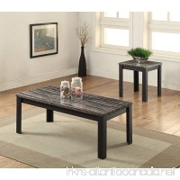 ACME Furniture 82134 2 Piece Arabia Coffee/End Table Set Faux Marble & Black - B01H3OUE4M