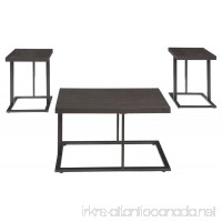 Ashley Furniture Signature Design - Airdon Contemporary 3-Piece Table Set - Includes Coffee Table & 2 End Tables - Bronze Finish - B01BNHWTCK
