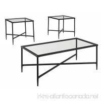 Ashley Furniture Signature Design - Augeron Contemporary 3-Piece Table Set - Includes Cocktail Table & 2 End Tables - Black - B071LGDYDB