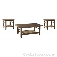 Ashley Furniture Signature Design - Zantori Occasional Table Set - Includes Cocktail Table & 2 End Tables - Light Brown - B01JACZA1M