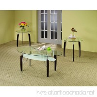 Coaster Contemporary Cappuccino and Chtome Three Piece Occasional Table Set - B006GQUK84