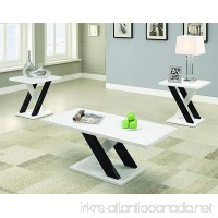 Coaster Contemporary White Three Piece Occasional Table Set - B014KPROMC