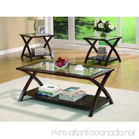 Coaster Transitional Cappuccino Three Piece Occasional Table Set - B004HPTU5A