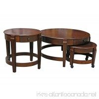 Nesting Coffee Table Set with Accent Table in Chestnut finish - B01DYDGCY2