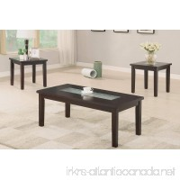 Poundex PDEX-F3101 3 Piece Accent Table Set with Asymmetrical Center - B00XR5OZGA