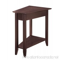 SJ Collection B12600003 Harbor Modern Wedge Side Table End Small Espresso - B07DMHP1ZY