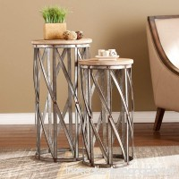 Southern Enterprises Mencino Accent Table - Set of 2 - B0190U57SK