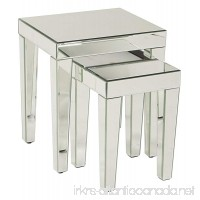 Ave Six Reflections 2-Piece Nesting Table Set  Silver Mirrored Finish - B009V5YWOU
