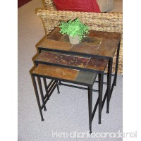 Black 3 Piece Nesting Tables With Slate Top - B0017LQ4T2