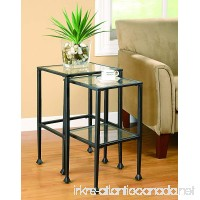 Coaster Transitional Black 2-Piece Nesting Table Set - B003FHY286