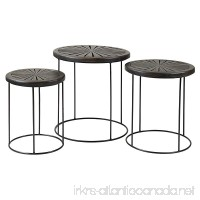 East at Main Bartlett Brown Round Mango Wood Accent Nesting Table - B01MQVB3HY