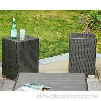 Handy Living Aldrich Grey Indoor/Outdoor 2 Piece Rattan End Table Set - B076GXRBHP
