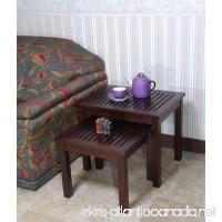 Office Accents Mahogany Valencia Nesting Table Set of 2 Pcs - B00CKHA24K