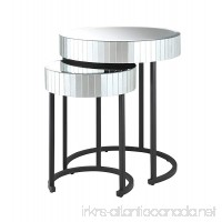 OSP Designs Krystal Round Mirror Accent Tables - B00CMGWE2C
