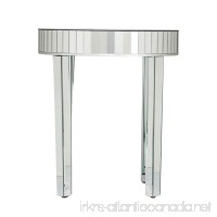 Southern Enterprises Round Mirrored Nesting Table 2pc Set - B00G13A4SI