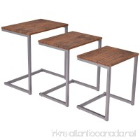 Stacking Nesting Coffee End Table Set Living Room Modern Home Furniture 3PCS - B079WBYMT2