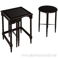 Sterling 6003205 Melbourne Traditional Asian Hardwood Nesting Tables  24-Inch  Ebony - B000UUHOB8