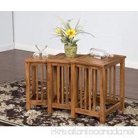 Sunny Designs Sedona 3 Piece Nesting Table in Rustic Oak - B007RULM9E