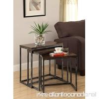 Treasure Trove Accents Nesting Tables Rich Oak Veneer - B00MPLZ156