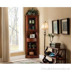 All Things Cedar LY06 Corner Curio Cabinet Cherry - B01CKFAJ4O