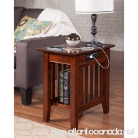 Atlantic Furniture AH13214 Mission Side Table Rubber Wood Walnut - B072HK6DY1