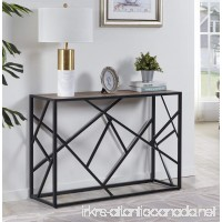 "Homissue 30"" Height Console Sofa Table with Sturdy Criss-cross Design for Hallway/Living Room/Entryway Retro Brown - B0786GWM3Q"