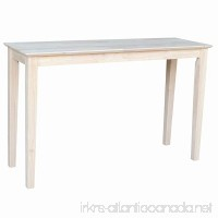 International Concepts OT-9S Shaker Sofa Table Unfinished - B0029LHTI4