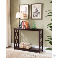 Kings Brand Furniture Wood Entryway Console Sofa Occasional Table  Cherry - B019WQB718