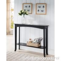 Kings Brand Furniture Wood Entryway Console Sofa Occasional Table Espresso - B01A9DWOFQ