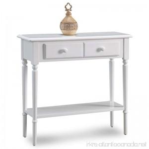 Leick 20027-WT Coastal Narrow Hall Stand/Sofa Table with Shelf Orchid White - B01JOBGBK8