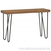 Rivet Hairpin Wood and Metal Tall 29.5 Console Table Walnut and Black - B072ZRPFNM