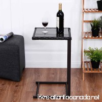 Safstar Coffee Tea Tray Side Sofa Couch Chair End Table with Wicker Rattan Square Glass Furniture - B01IBOP0P6