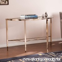 Southern Enterprises Thompson Sofa Console Table Metallic Gold Finish - B01HS88ZLW