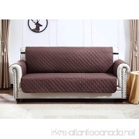 Argstar Large Sofa Slip Cover Couch Slipcover Furniture Protector for Pet Cats Dogs Chocolate/Natural (3-4 Seater) - B076BDT12R