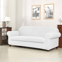 Fassbel 2-Piece Stretch Spandex Sofa Slipcovers for Living Room (Loveseat  Off-white) - B07BLYSC7X