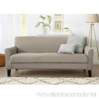 Home Fashion Designs Form Fit Stretch  Stylish Furniture Cover/Protector Featuring Lightweight Twill Fabric. Dawson Collection Basic Strapless Slipcover by Brand. (Sofa  Silver Cloud) - B00R388WJI