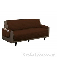 Home Sweet Home Quilted Slip Cover Furniture Protector (Sofa  Brown) - B0728N861D