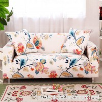 "HOTNIU Stretch Sofa Cover Spandex Couch Slipcover Fitted Loveseat Couch Covers Floral Printed Slipcovers for Sofa and Couch (Sofa for 69"" - 86""  Pattern #31) - B078WM76SJ"