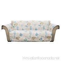 Lush Decor Harbor Life Furniture Protector Sofa Blue and Taupe - B079Y9YWWZ