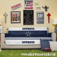 Pegasus Home Fashions NFL Dallas Cowboys Sofa Couch Reversible Furniture Protector with Elastic Straps  75-inches by 110-inches - B00PBZUZJU
