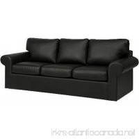 Sofa Cover Only! Faux Leather Ektorp 3 Seat Sofa Cover Replacement Is Custom Made for IKea Ektorp Sofa Cover An Ektorp Sofa Slipcover Replacement (Black Leather) - B075H2DJ8C
