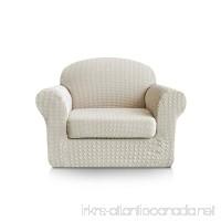 Subrtex 2-Piece Print Jacquard Spandex Fabric Stretch Sofa Slipcovers (Chair  Cream) - B07541TVHL