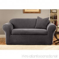 Sure Fit Stretch Metro 2-Piece - Sofa Slipcover - Gray (SF39413) - B00801FCVS