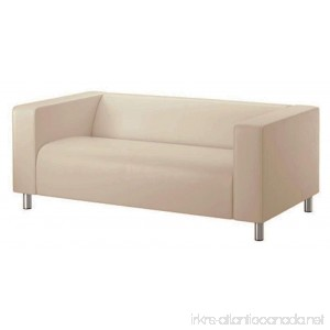 The Beige Klippan Loveseat Cover Replacement Is Custom Made for Ikea Klippan Loveseat Slipcover A Sofa Cover Replacement (Darker Beige) - B078HNF677