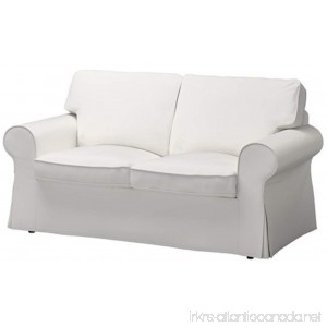 The Dense Cotton Ektorp Loveseat Cover Replacement Is Custom Made For Ikea Ektorp Loveseat Sofa Slipcover (Cotton Pure White) - B075KLV1BW