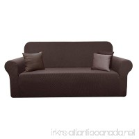 YUUHUM 1-Piece Couch Covers Stripes Designs Furniture Protector Stretch Spandex Sofa Slipcovers (Sofa Brown) - B07D9HDD99