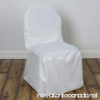 BalsaCircle 10 pcs Ivory Polyester Banquet Chair Covers Slipcovers for Wedding Party Reception Decorations - B077BCX8C6