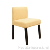 Deisy Dee Stretch Chair Cover Slipcovers for Short Back Chair Bar Stool Chair (beige) - B0789YZXD1
